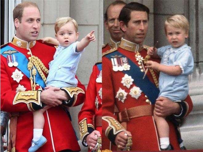 Принц Уильям и принц Джордж на параде в честь дня рождения королевы Tkbpfdtnns ШШ