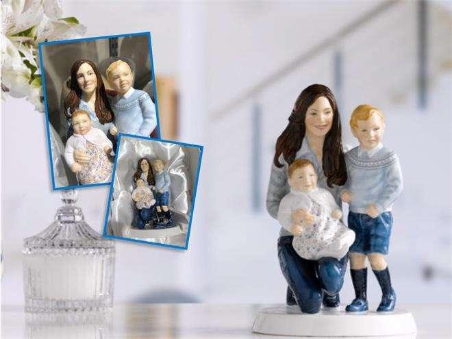 Статуэтка Кейт Миддлтон с детьми