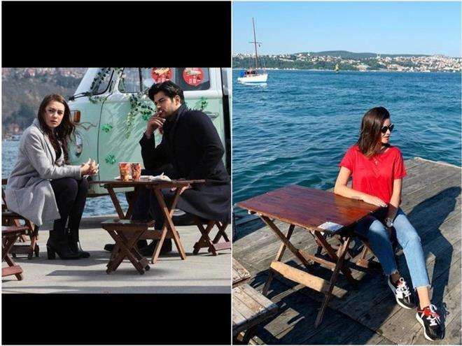 Ксения Бородина в Стамбуле на набережной из сериала