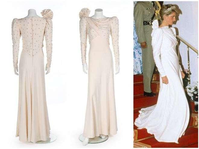 Платье принцессы Дианы визита в Бахрейн от дизайнера Элизабет Эммануэль