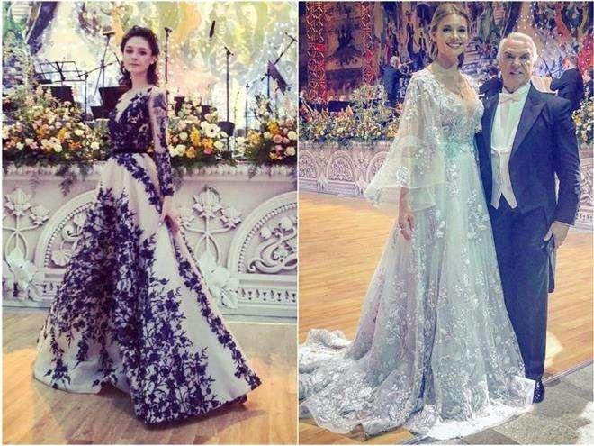 Любовь Толкалина с дочкой на Венском балу в Москве 2019