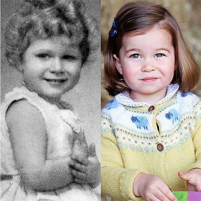 Принцесса Шарлотта похожа на свою прабабушку Елизавету II