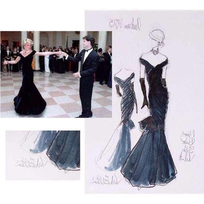 Легендарное черное платье принцессы Дианы от дизайнера Виктора Эдельштейна