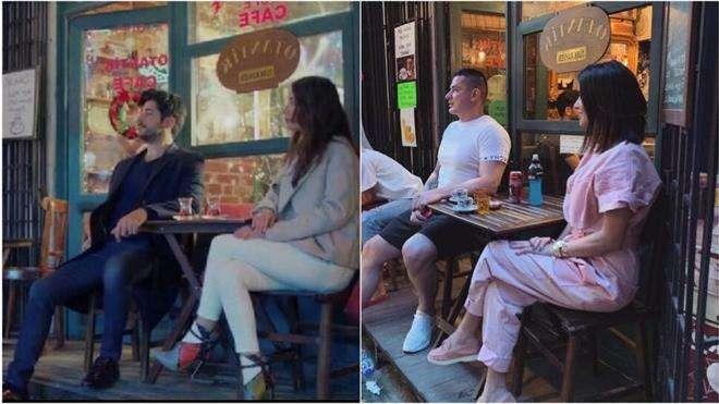 Ксения Бородина в Стамбуле в кафе Otantik из сериала