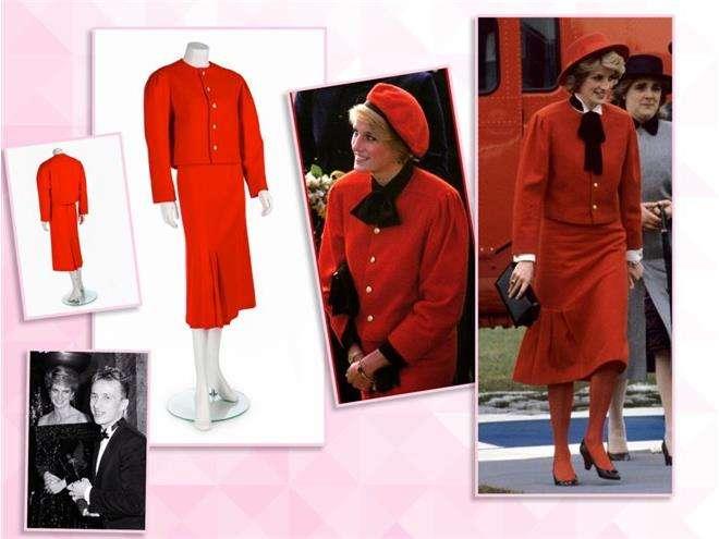 Красное платье-костюм принцессы Дианы от Джаспера Конрана