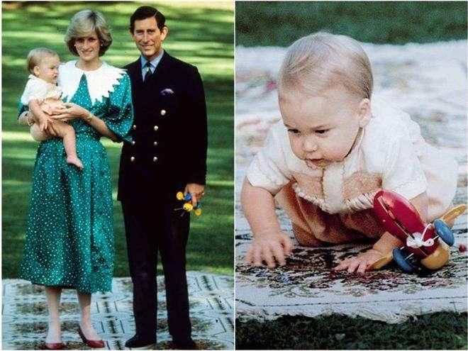 Принц Уильям с любимой игрушкой