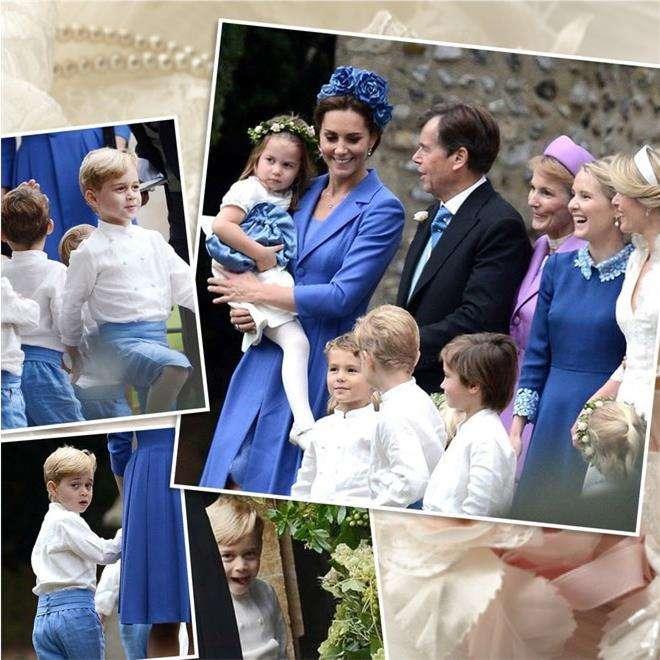 Принц Джордж на свадьбе Софи Картер