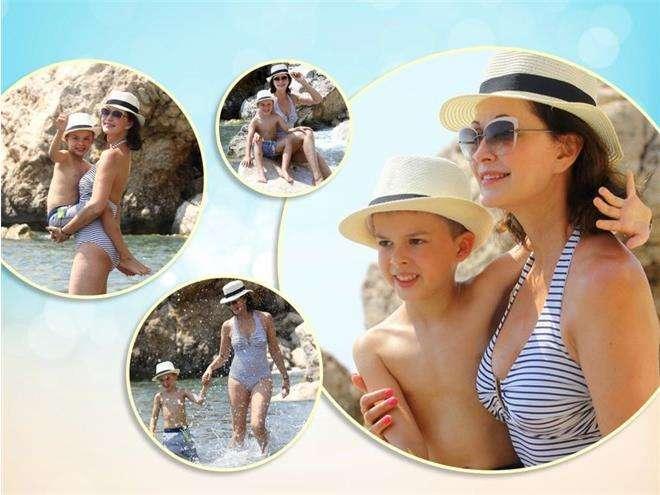 Ольга Кабо с сыном отдыхает в Турции