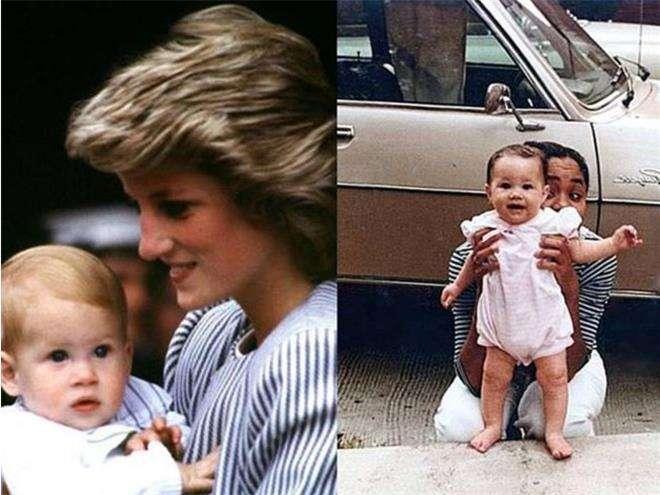 Меган Маркл и принц Гарри в детстве