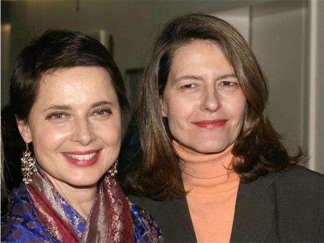 Изабелла Росселини с сестрой Изоттой-Ингрид