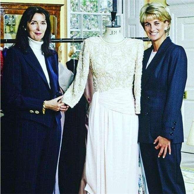 Принцесса Диана и дизайнер Кэтрин Уолкер