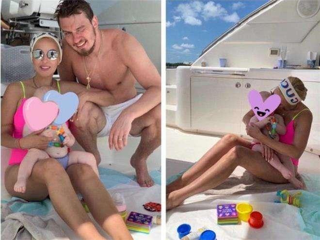 Лера Кудрявцева и Игорь Макаров с дочкой на отдыхе