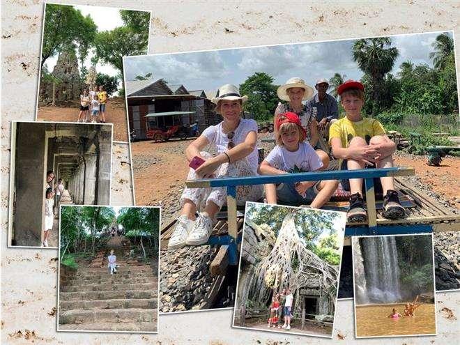 Юлия Барановская c детьми в Камбодже