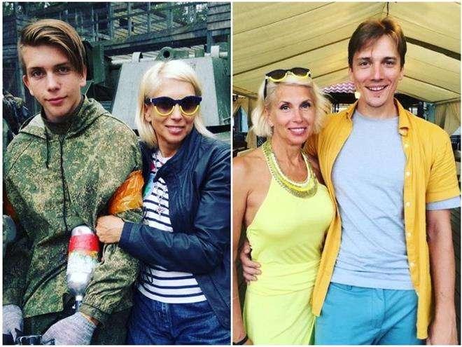 Алена Свиридова с сыновьями