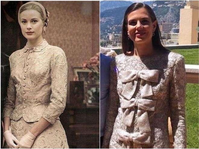 Свадебные платья Грейс Келли и ее внучки Шарлотты Казираги