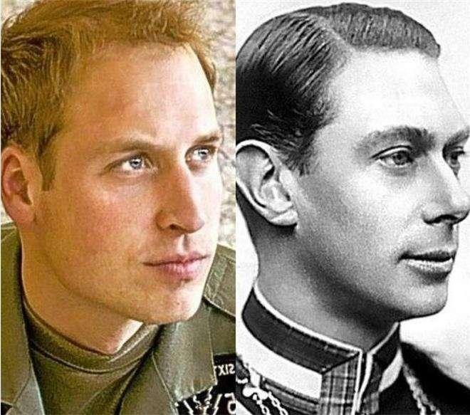 Король Георг VI и принц Уильям