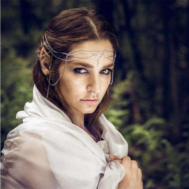 Глафира Тарханова в образе эльфийской принцессы