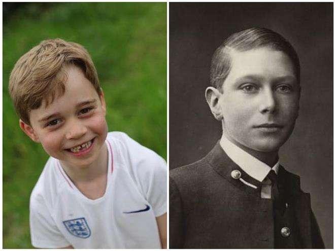 Принц Джордж похож на короля Георга VI