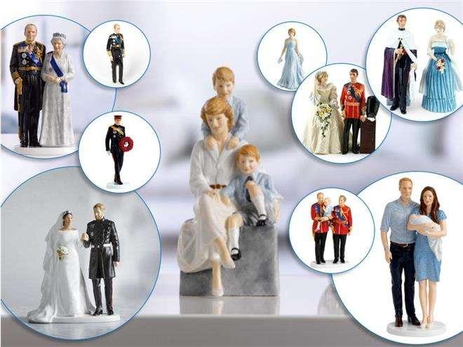 Статуэтки членов британской королевской семьи