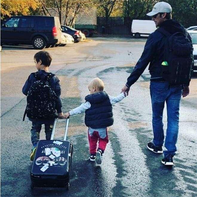 Ткаченко с сыновьями