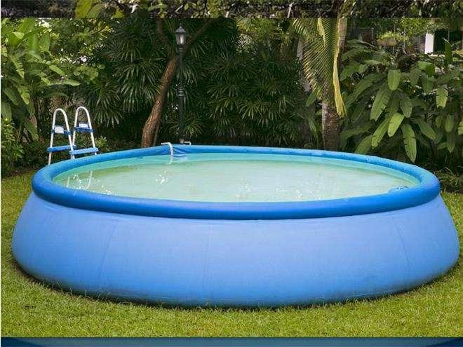 Укрепленный бассейн с кольцами