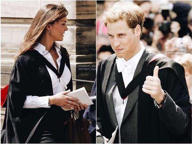 Кейт Миддлтон и принц Уильям в университете Сент-Эндрюс