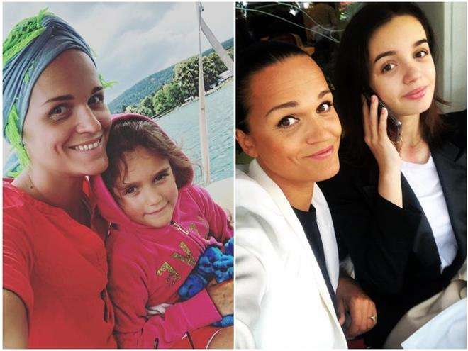 Певица Слава с дочками