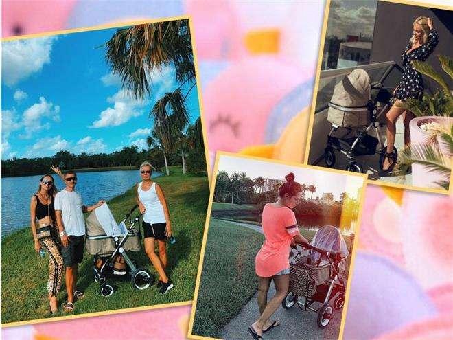Детская коляска Ханны, Нюши и Виктории Лопыревой