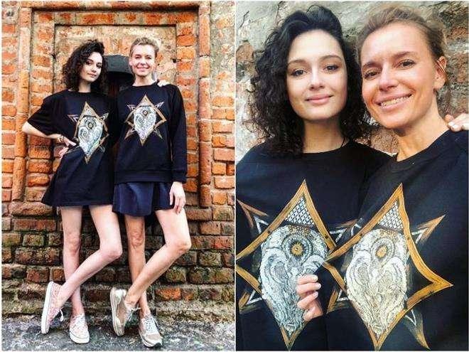 Любовь Толкалина с дочкой Марией Кончаловской
