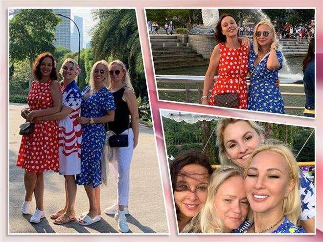 Лера Кудрявцева с сестрой и подругами