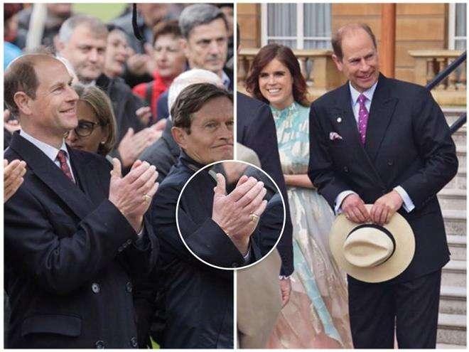 Принц Эдвард носит обручальное кольцо на мизинце