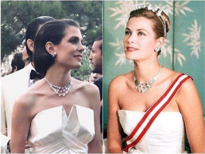 Шарлотта Казираги надела на свадьбу знаменитое бриллиантовое колье Грейс Келли