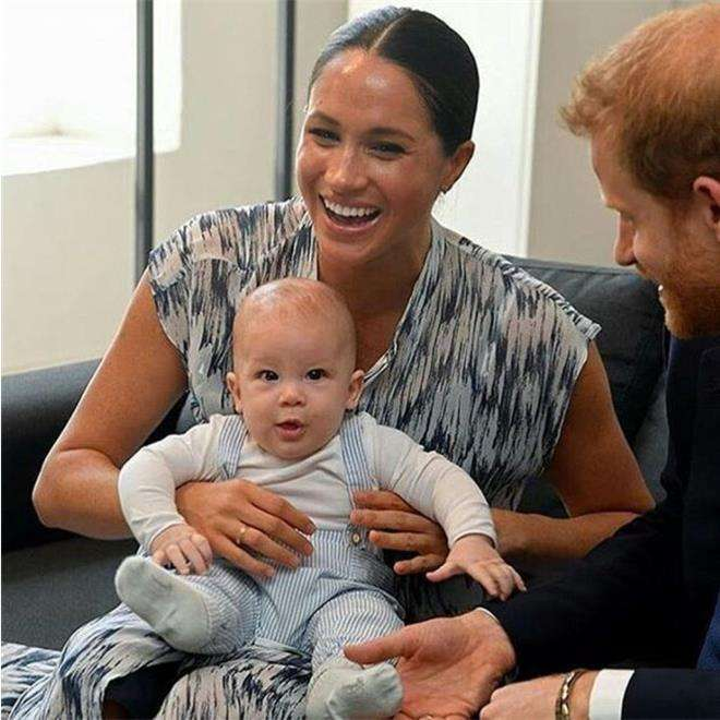 Принц Гарри и Меган Маркл с сыном Арчи Харрисоном