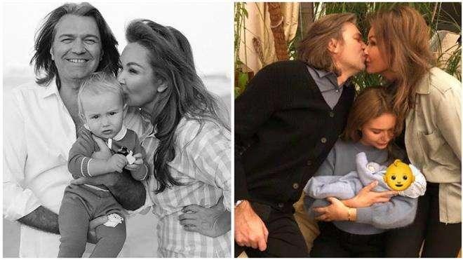 Дмитрий Маликов с женой и детьми