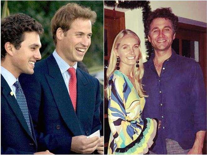 Принц Уильям и Томас ван Штраубензи с невестой