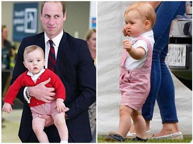 Розовый комбинезон принца Джорджа