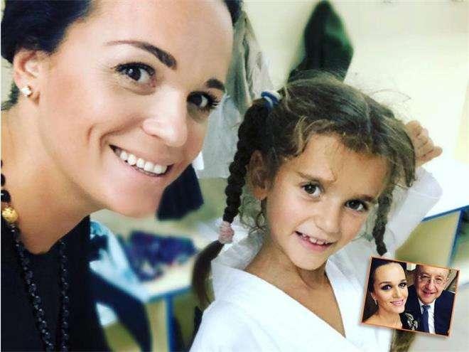 Певица Слава с дочкой Антониной и супругом